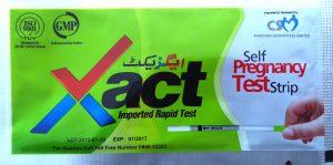 Xact HCG urine test strip
