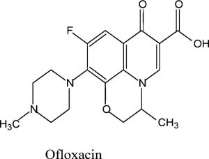 Chemical structure of Ofloxacin